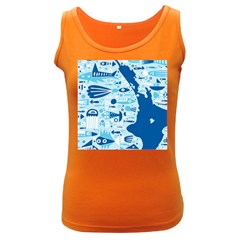 New Zealand Fish Detail Blue Sea Shark Women s Dark Tank Top by Mariart