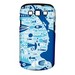 New Zealand Fish Detail Blue Sea Shark Samsung Galaxy S Iii Classic Hardshell Case (pc+silicone)
