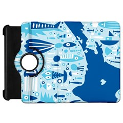 New Zealand Fish Detail Blue Sea Shark Kindle Fire Hd 7  by Mariart
