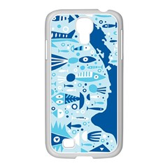 New Zealand Fish Detail Blue Sea Shark Samsung Galaxy S4 I9500/ I9505 Case (white)