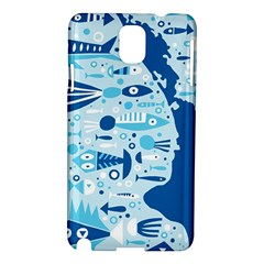 New Zealand Fish Detail Blue Sea Shark Samsung Galaxy Note 3 N9005 Hardshell Case by Mariart