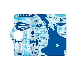 New Zealand Fish Detail Blue Sea Shark Kindle Fire Hd (2013) Flip 360 Case by Mariart