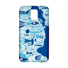 New Zealand Fish Detail Blue Sea Shark Samsung Galaxy S5 Hardshell Case  by Mariart