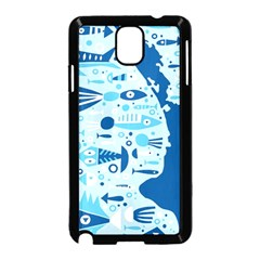 New Zealand Fish Detail Blue Sea Shark Samsung Galaxy Note 3 Neo Hardshell Case (black) by Mariart