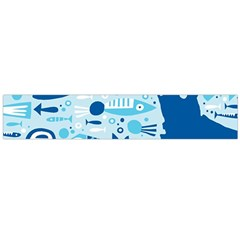 New Zealand Fish Detail Blue Sea Shark Flano Scarf (large) by Mariart