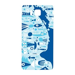 New Zealand Fish Detail Blue Sea Shark Samsung Galaxy Alpha Hardshell Back Case by Mariart