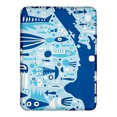 New Zealand Fish Detail Blue Sea Shark Samsung Galaxy Tab 4 (10 1 ) Hardshell Case  by Mariart