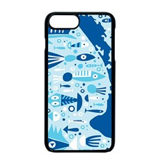 New Zealand Fish Detail Blue Sea Shark Apple Iphone 7 Plus Seamless Case (black) by Mariart