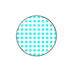 Polka Dot Blue White Hat Clip Ball Marker by Mariart