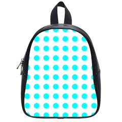 Polka Dot Blue White School Bags (small)  by Mariart