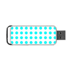 Polka Dot Blue White Portable Usb Flash (one Side) by Mariart