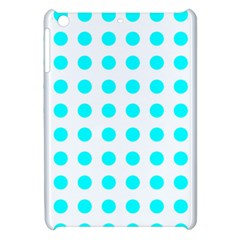 Polka Dot Blue White Apple Ipad Mini Hardshell Case by Mariart