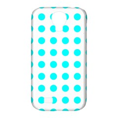 Polka Dot Blue White Samsung Galaxy S4 Classic Hardshell Case (pc+silicone) by Mariart