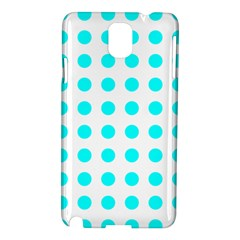 Polka Dot Blue White Samsung Galaxy Note 3 N9005 Hardshell Case by Mariart