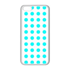 Polka Dot Blue White Apple Iphone 5c Seamless Case (white) by Mariart
