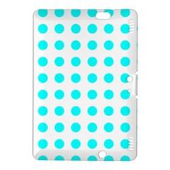 Polka Dot Blue White Kindle Fire Hdx 8 9  Hardshell Case by Mariart