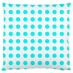 Polka Dot Blue White Standard Flano Cushion Case (two Sides) by Mariart