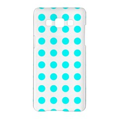 Polka Dot Blue White Samsung Galaxy A5 Hardshell Case  by Mariart