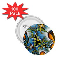 High Detailed Fractal Image Background With Abstract Streak Shape 1 75  Buttons (100 Pack)  by Simbadda