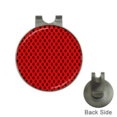 Polka Dot Black Red Hole Backgrounds Hat Clips With Golf Markers by Mariart