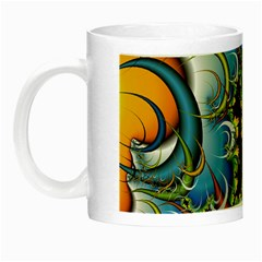 High Detailed Fractal Image Background With Abstract Streak Shape Night Luminous Mugs by Simbadda