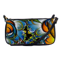 High Detailed Fractal Image Background With Abstract Streak Shape Shoulder Clutch Bags by Simbadda