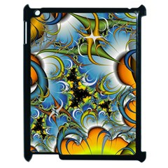 High Detailed Fractal Image Background With Abstract Streak Shape Apple Ipad 2 Case (black) by Simbadda