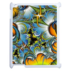 High Detailed Fractal Image Background With Abstract Streak Shape Apple Ipad 2 Case (white) by Simbadda