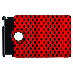Polka Dot Black Red Hole Backgrounds Apple Ipad 3/4 Flip 360 Case by Mariart