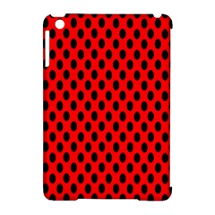 Polka Dot Black Red Hole Backgrounds Apple Ipad Mini Hardshell Case (compatible With Smart Cover) by Mariart
