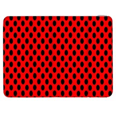 Polka Dot Black Red Hole Backgrounds Samsung Galaxy Tab 7  P1000 Flip Case by Mariart