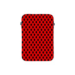 Polka Dot Black Red Hole Backgrounds Apple Ipad Mini Protective Soft Cases by Mariart