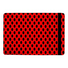 Polka Dot Black Red Hole Backgrounds Samsung Galaxy Tab Pro 10 1  Flip Case by Mariart