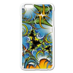 High Detailed Fractal Image Background With Abstract Streak Shape Apple Iphone 6 Plus/6s Plus Enamel White Case by Simbadda