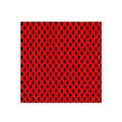 Polka Dot Black Red Hole Backgrounds Satin Bandana Scarf by Mariart