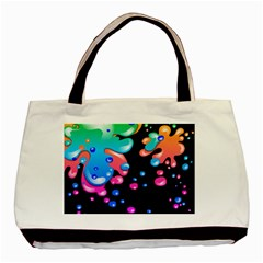 Neon Paint Splatter Background Club Basic Tote Bag (two Sides) by Mariart