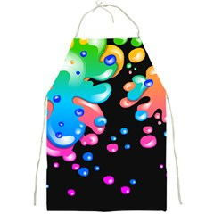 Neon Paint Splatter Background Club Full Print Aprons by Mariart