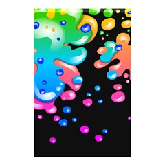 Neon Paint Splatter Background Club Shower Curtain 48  X 72  (small)  by Mariart