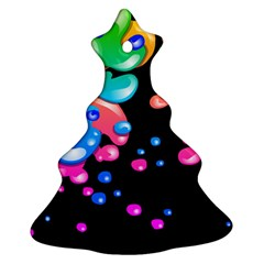 Neon Paint Splatter Background Club Christmas Tree Ornament (two Sides) by Mariart