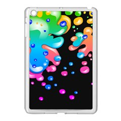 Neon Paint Splatter Background Club Apple Ipad Mini Case (white) by Mariart