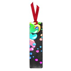 Neon Paint Splatter Background Club Small Book Marks by Mariart