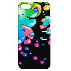 Neon Paint Splatter Background Club Apple Iphone 5 Hardshell Case With Stand by Mariart