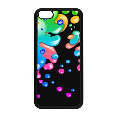 Neon Paint Splatter Background Club Apple iPhone 5C Seamless Case (Black) by Mariart