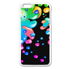 Neon Paint Splatter Background Club Apple Iphone 6 Plus/6s Plus Enamel White Case by Mariart