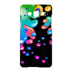 Neon Paint Splatter Background Club Samsung Galaxy A5 Hardshell Case  by Mariart
