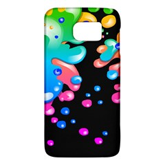 Neon Paint Splatter Background Club Galaxy S6 by Mariart
