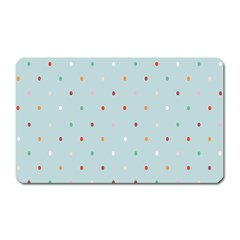 Polka Dot Flooring Blue Orange Blur Spot Magnet (rectangular) by Mariart