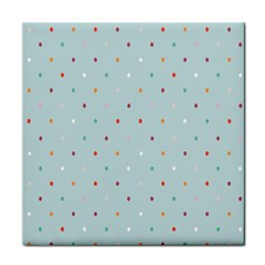 Polka Dot Flooring Blue Orange Blur Spot Face Towel by Mariart