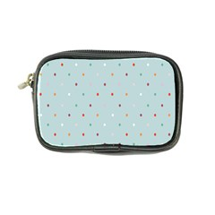 Polka Dot Flooring Blue Orange Blur Spot Coin Purse by Mariart