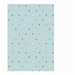 Polka Dot Flooring Blue Orange Blur Spot Small Garden Flag (two Sides) by Mariart